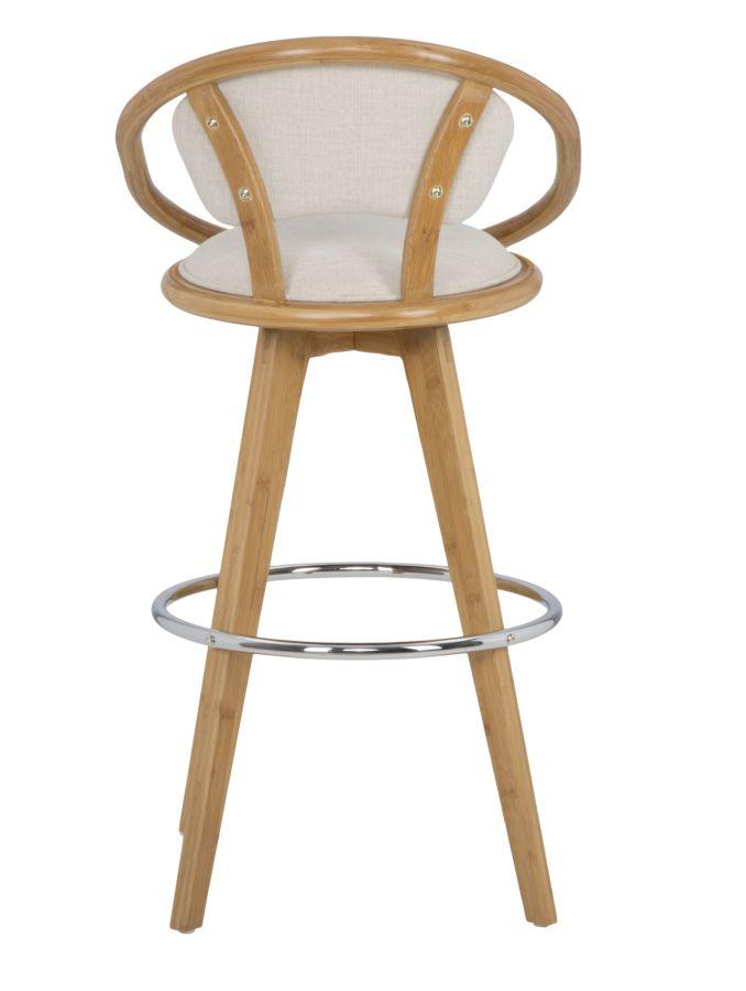 Otočná barová stolička (bavlnená výplň)