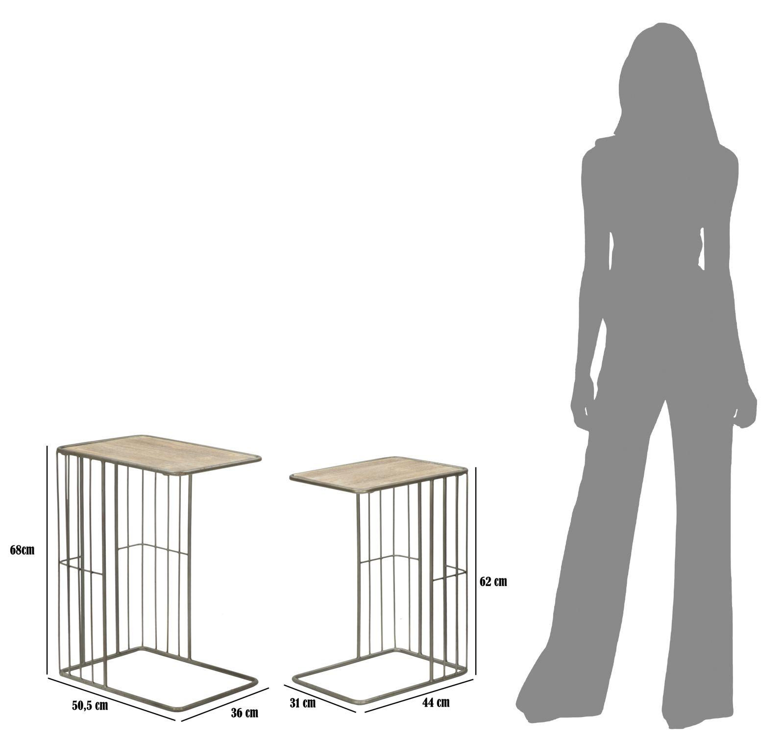 Konferenčné stolíky INDUSTRY - Set 2ks