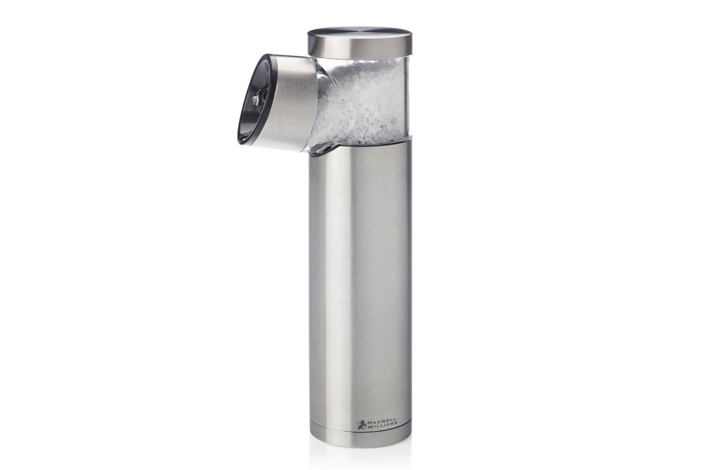 GRAVITY elektrický mlynček na soľ, 19,5 cm, nerez