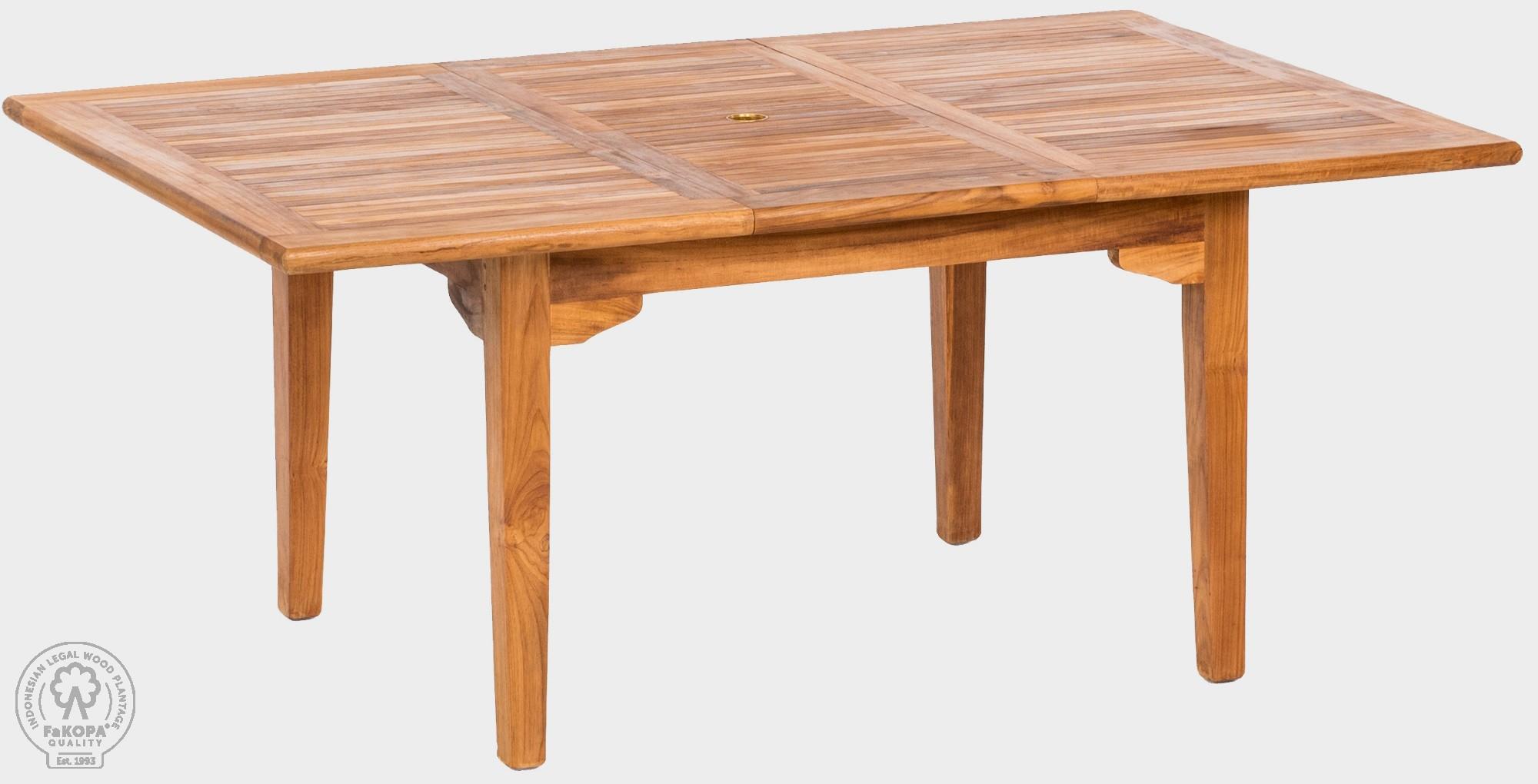 FaK Teakový stôl rozkladací 120x180-240 cm elegána II