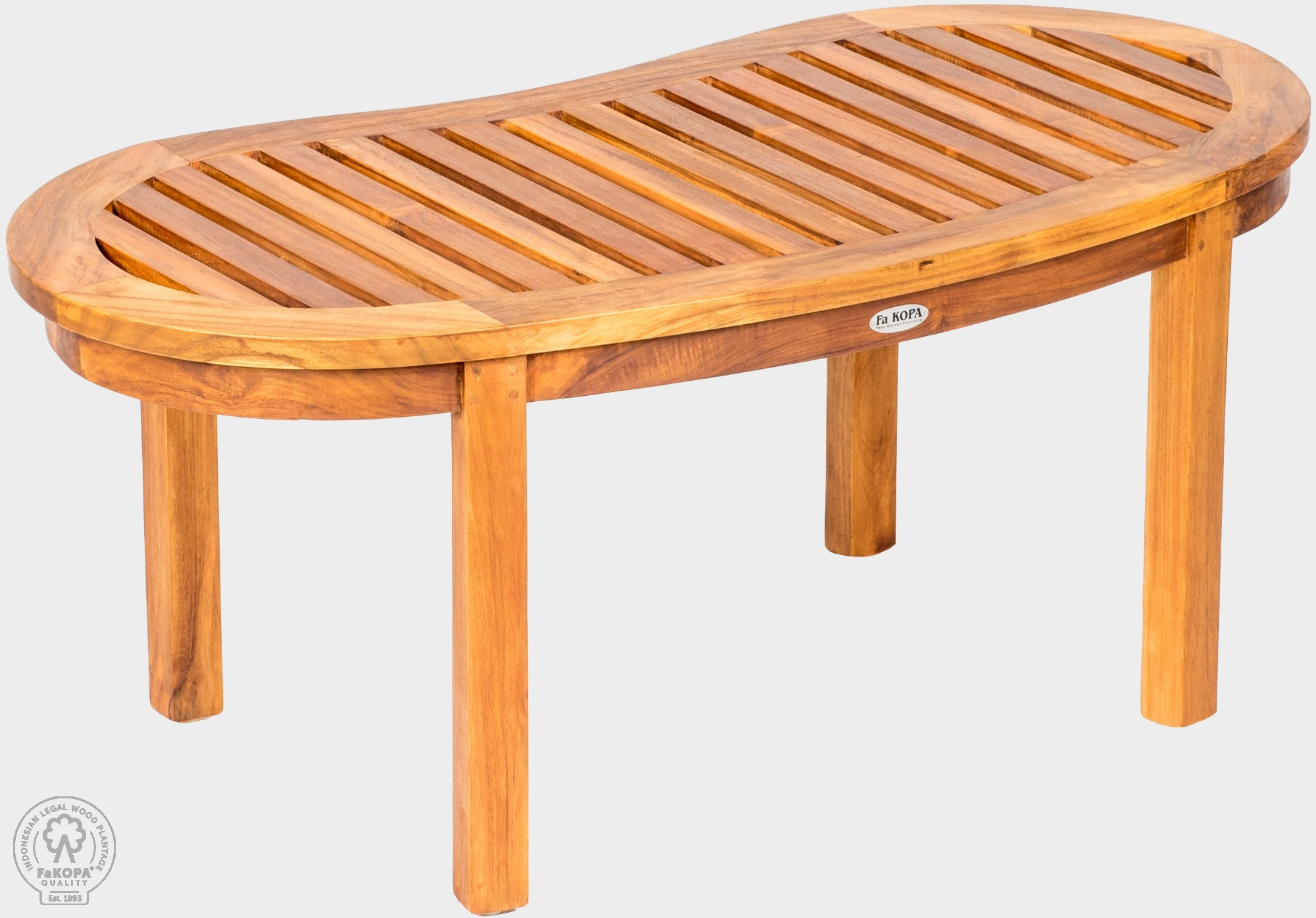 Teakový konferenčný stolík 45x95 cm FABIO