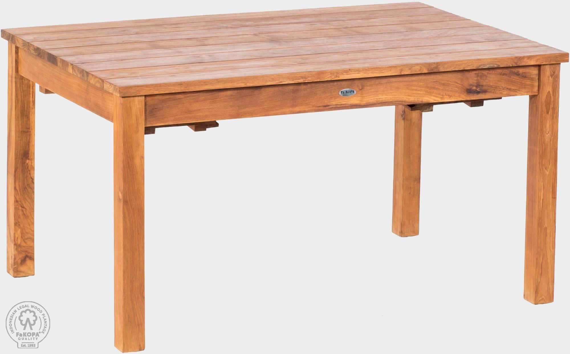 FaK Teakový stôl rozkladací 100x150-210 cm GIOVANNI