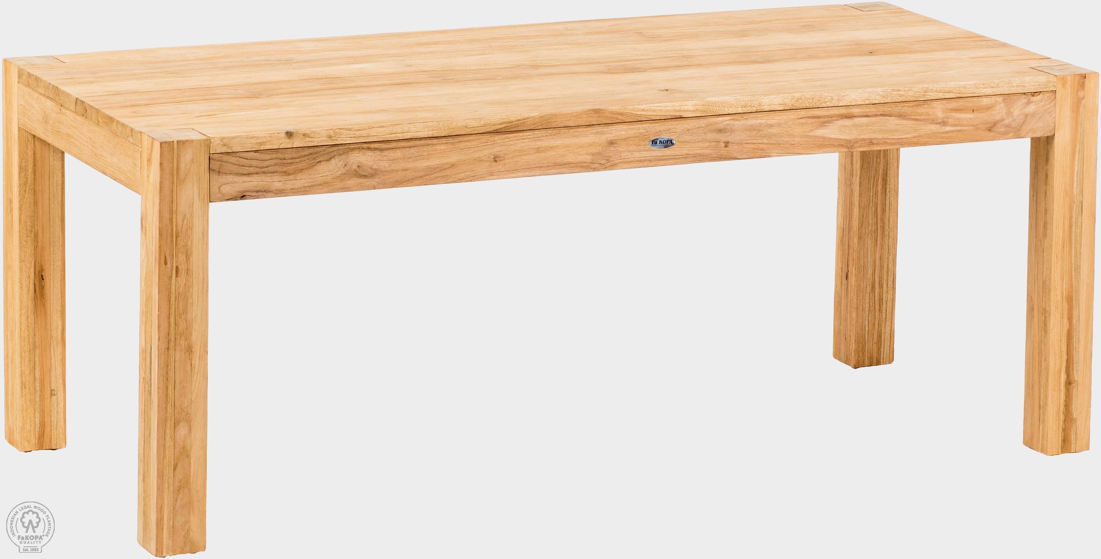 Teakový stôl pevný 120x200 cm NANDAL