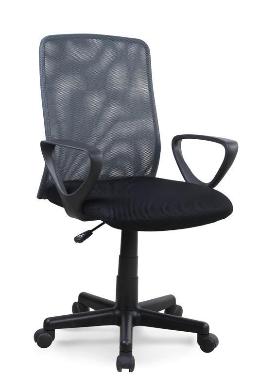 Halmar ALEX kreslo kancelárske čierno - šedé