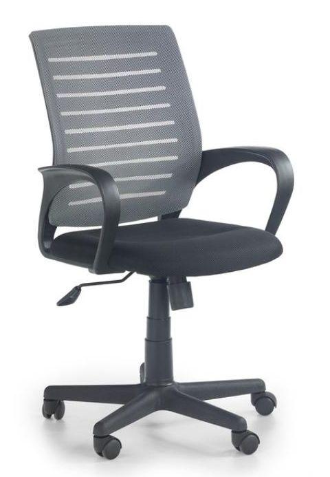 Halmar SANTANA kreslo kancelárske čierno - šedé