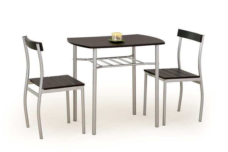 LANCE sada stôl + 2 stoličky wenge