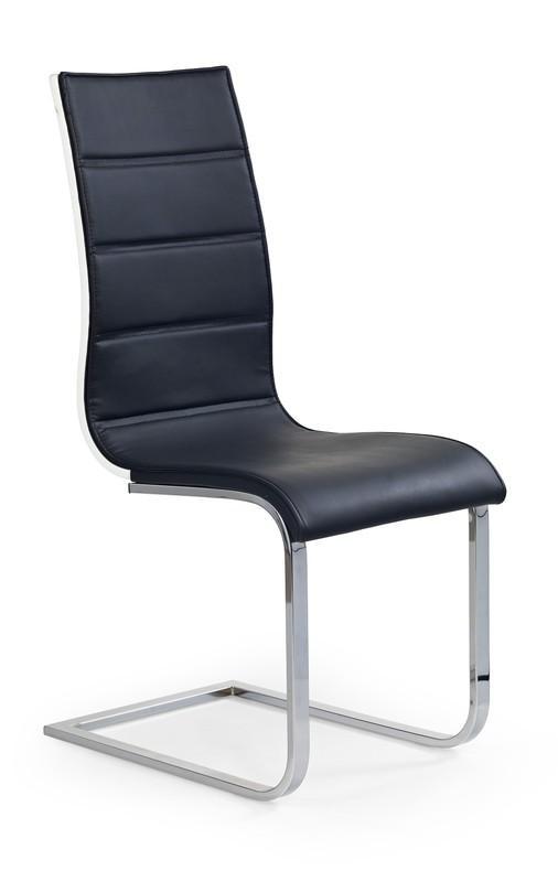 Halmar K104 stoličky čierna / biela koženka