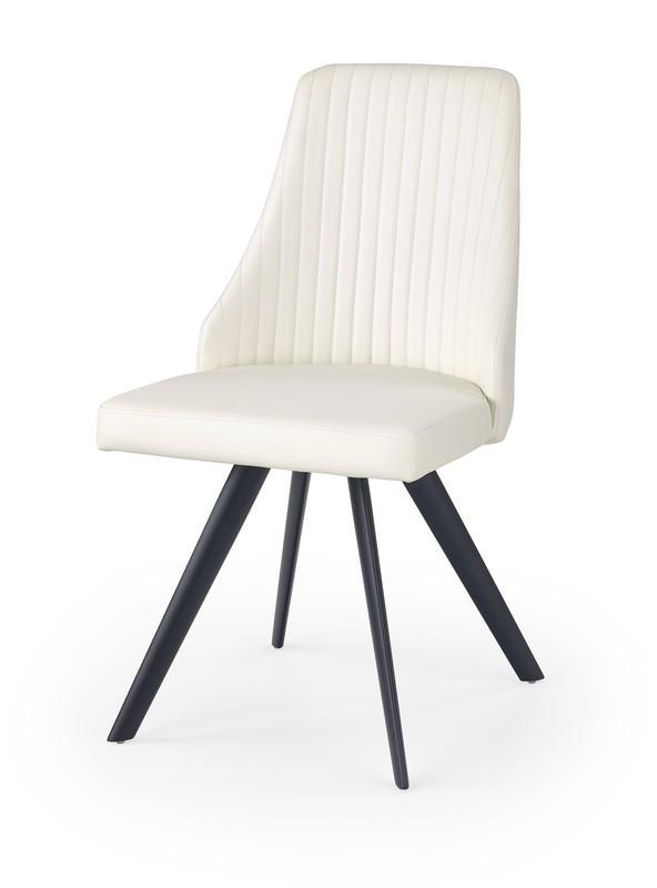 Halmar K206 stoličky biela / čierna