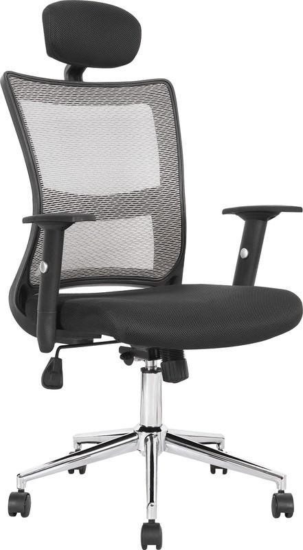 Halmar NEON kreslo kancelárske čierno-svetlo šedej
