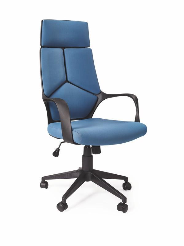 Halmar VOYAGER kreslo kancelárske čierno / modré