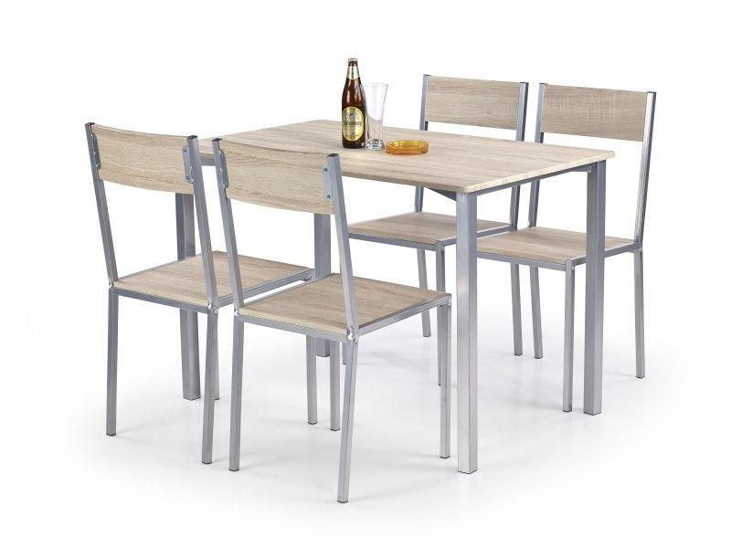 RALPH sada stôl + 4 stoličky dub Sonoma