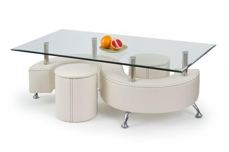 Halmar NINA 3 H stolík konferenčný biely