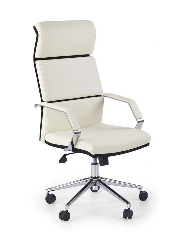 Halmar COSTA kreslo kancelárske bielo - čierne