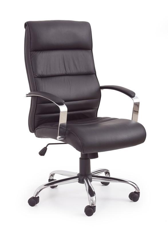 Halmar TEXAS kreslo kancelárske čierne - koža