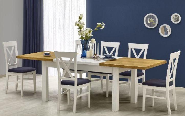 Halmar LEONARDO stôl biely / dub ťavie