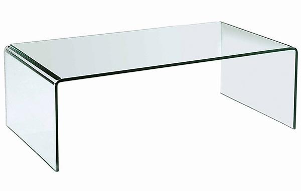 stolík sklenený PRIAM A SKLO TRANSPARENTNÉ 10 MM
