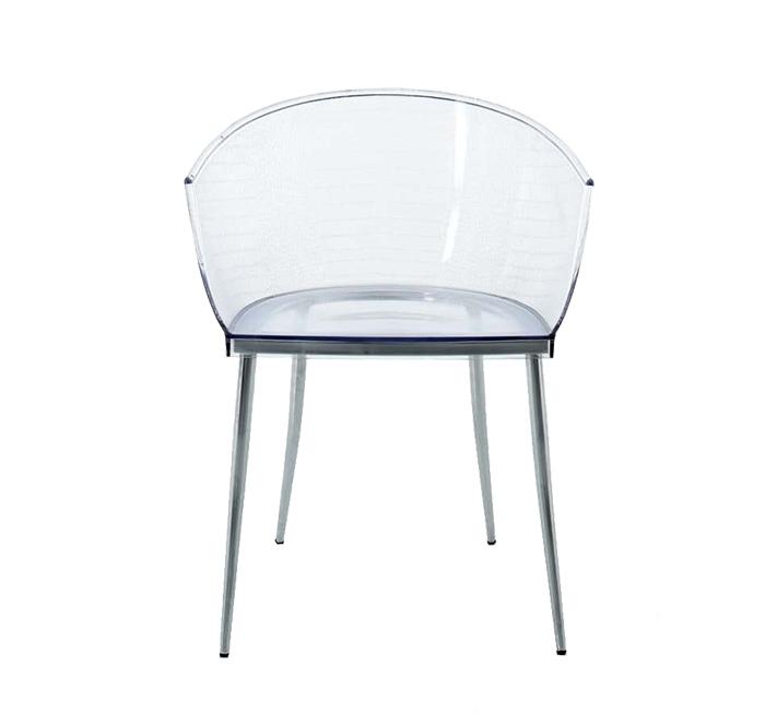 Stoličky CROCODILE transparentná - polykarbonát