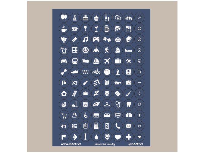 ikonky plánovací tm.modré