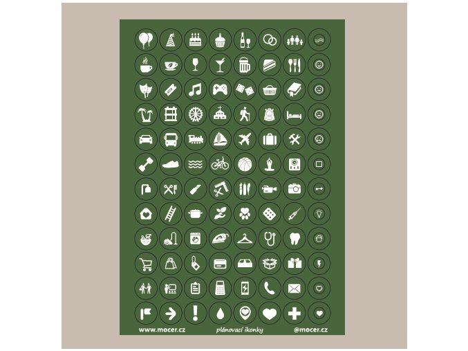 ikonky plánovací zelené