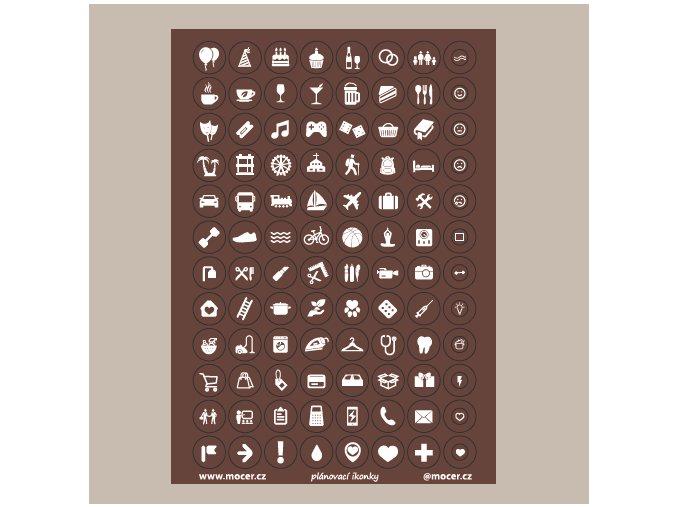 ikonky plánovací hnědé