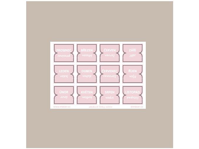 záložkové štítky měsíce sv.růžová