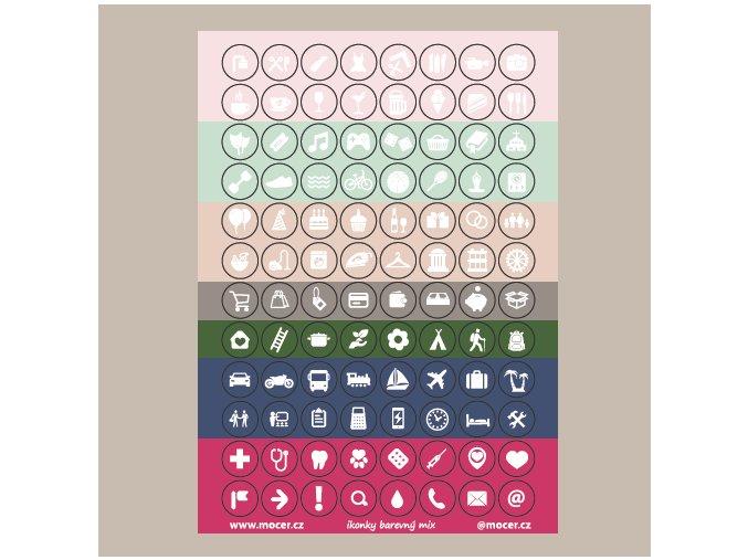 ikonky barevný mix
