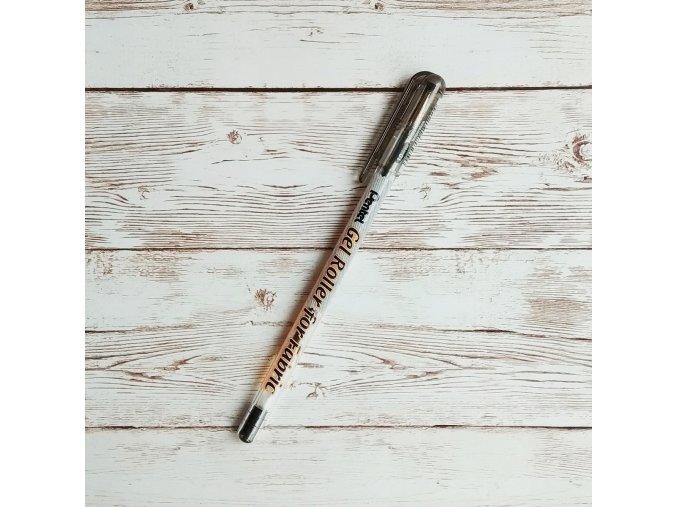 gelové pero na textil černé