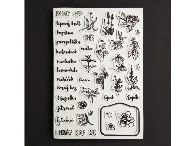 razítka bylinky a med