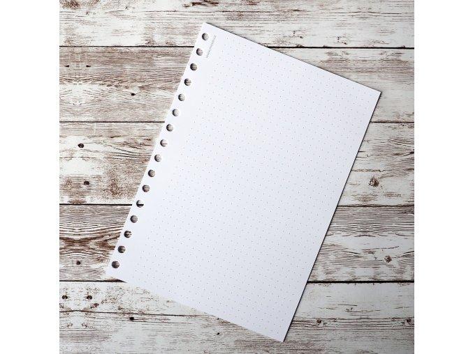 tečkované listy průsek