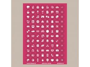 ikonky plánovací tm.růžové