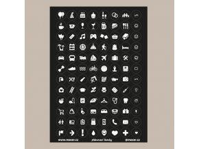 ikonky plánovací černé