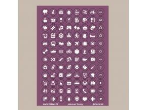 ikonky plánovací fialové