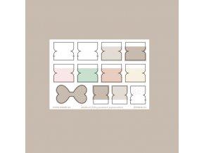 záložkové štítky pastelové popisovatelné