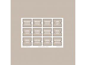 záložkové štítky měsíce taupe