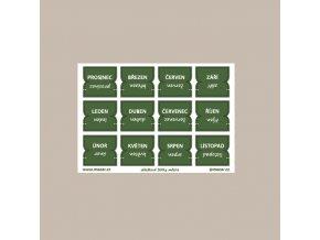 záložkové štítky měsíce zelená