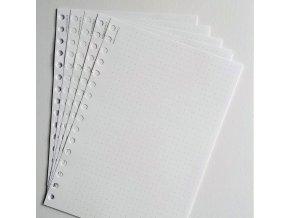 volné tečkované listy průsek