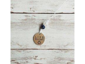 život je dar křišťál lapis lazuli