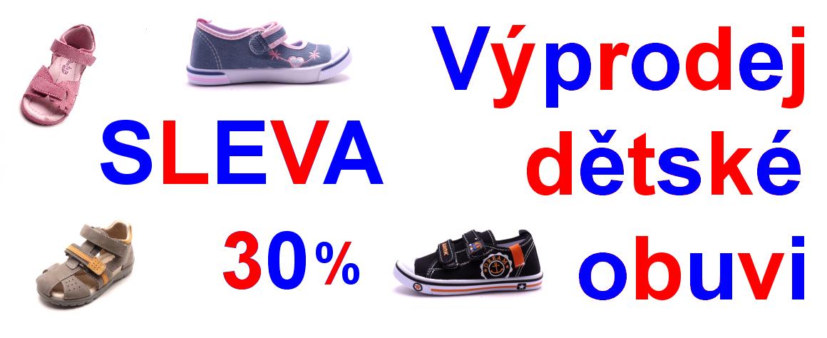 vyprodej detske obuvi sleva 30%