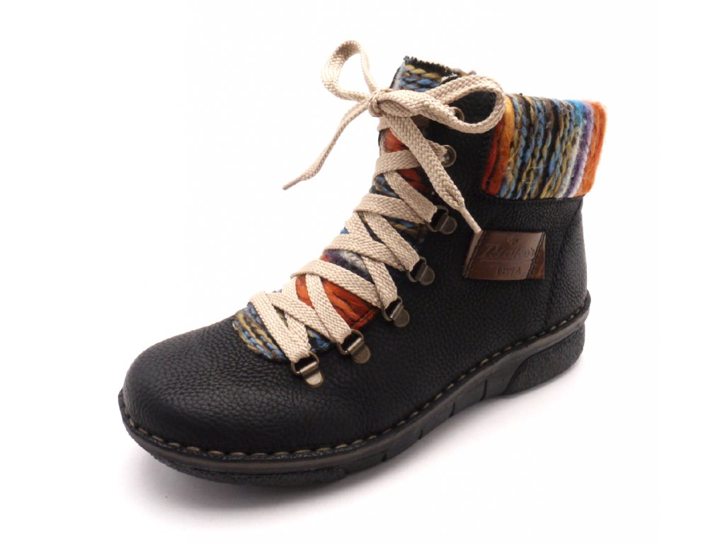 Dámské kotníkové boty s pleteninou 73343-00 - MODA ČAPEK d55ca7bb23
