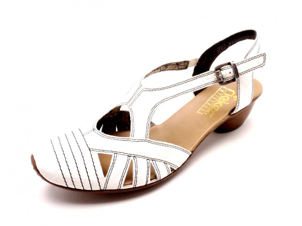 85517eba2d19 Dámské sandály na podpatku s plnou špičkou 43743-80 - MODA ČAPEK