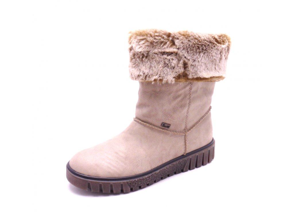 Dámské kotníčkové boty s kožíškem Y3492-60 - MODA ČAPEK bb217073a2