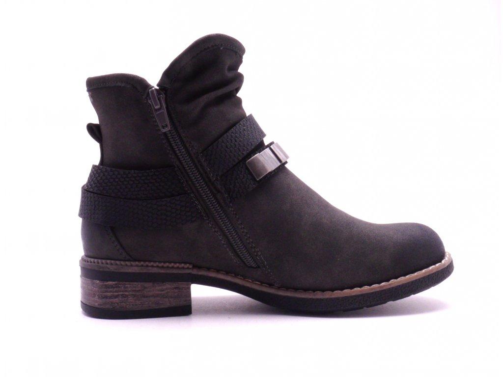 ... Dámská kotníčková šedá obuv 94671-45 c63bb31ca5