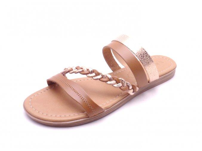Dámské COGNAC COMB pantofle 2-27115-32-392