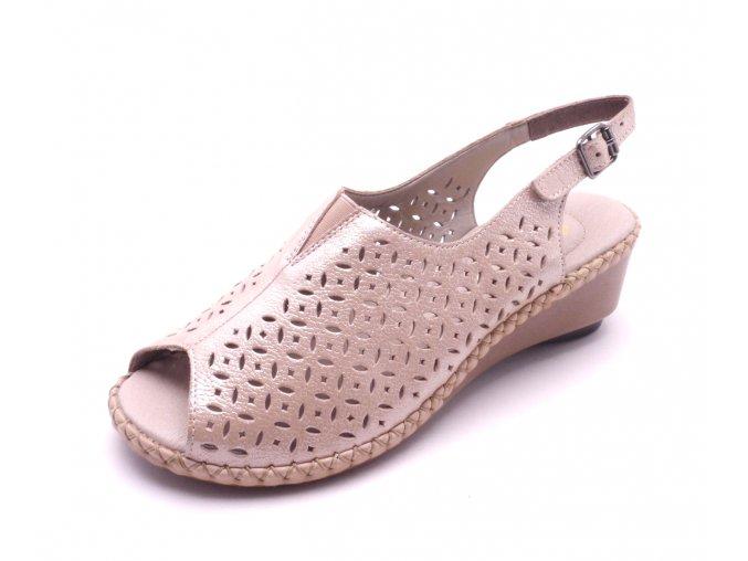 Dámské elegantní sandály na klínku 66185-31