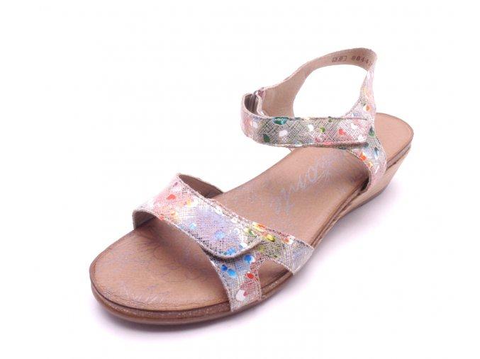 Dámské sandály na klínku R4456-90