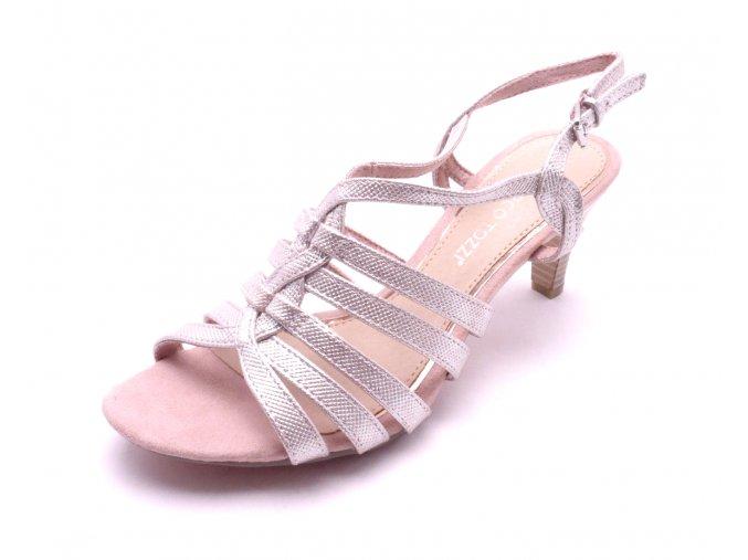 Dámské rose metalic sandály na podpatku 2-28321-592
