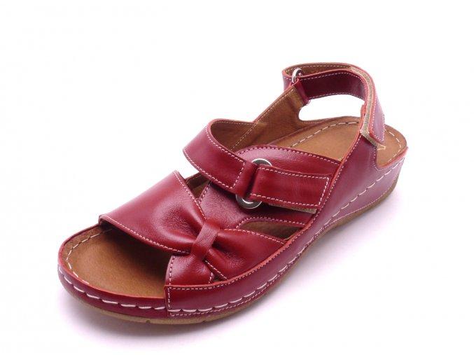 Dámské červené sandály 1269