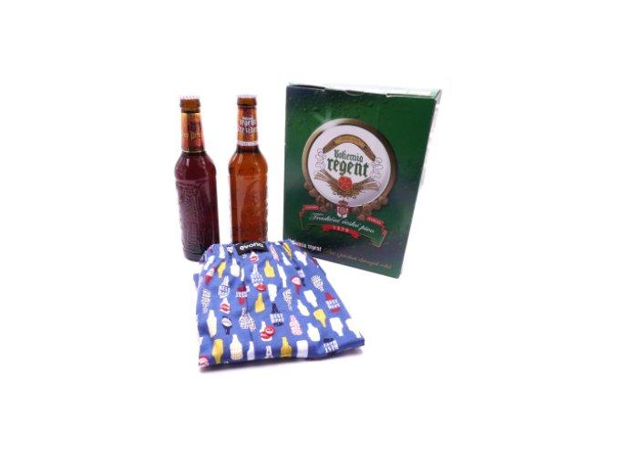 Dárkové balení 2 piva a trenýrky s pivem - lahve