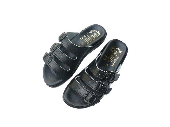 Dámské pantofle v černé barvě