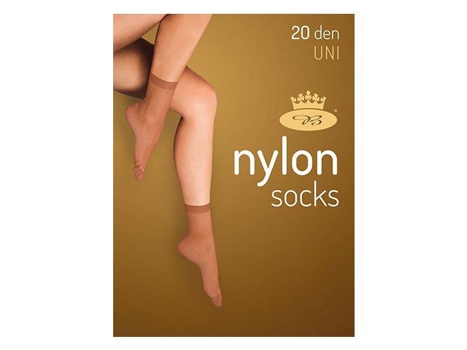 Silonové ponožky Nylon 2 páry